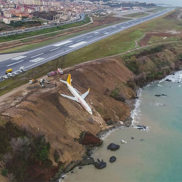 Pegasus Airline plane skids off runway in Trabzon Turkey leavinghellip